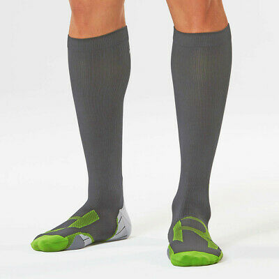 2XU Mujer Recovery Compresión Calcetines G2 Gris Deporte Transpirable Ligero