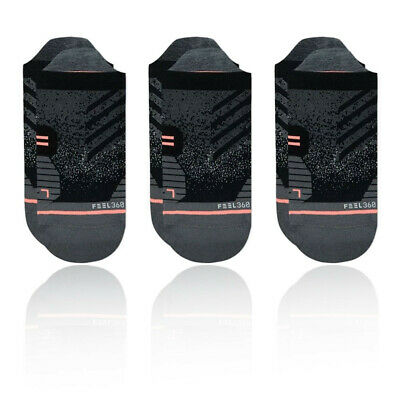 Stance Mujer Run Tab Calcetines - Negro Deporte Correr Transpirable Ligero