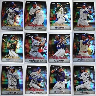 2019 Topps Chrome Update Family Business Baseball Cards Complete Your Set U Pick