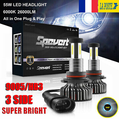 360° 110W 9005 HB3 30000LM Voiture LED Ampoules Phare Feux Lampe Kit Xénon 6000K