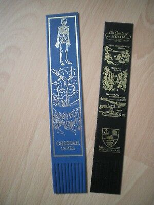 Leather Bookmarks - County Of Avon And Cheddar Caves