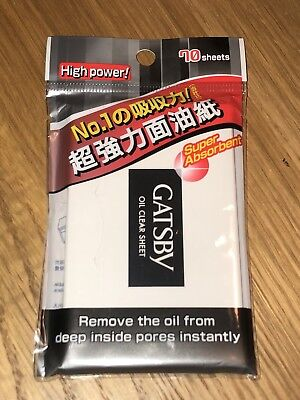 Gatsby Oil Clear Facial Paper (Super Absorbent) 70 sheets x 1 packet