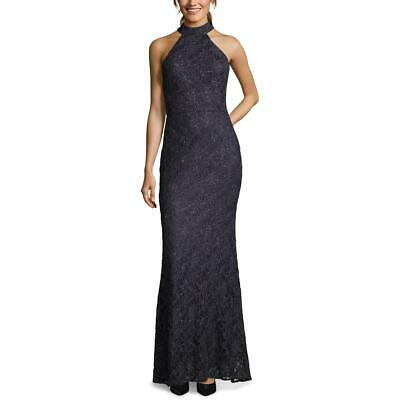 Betsy & Adam Womens Lace Overlay Halter Neck Formal Evening Dress Gown BHFO 2262