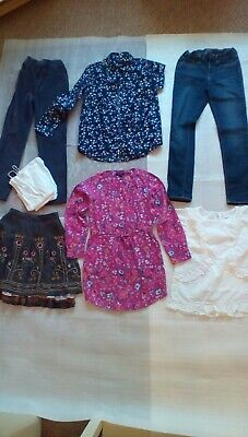 girls clothes age 11- 12 bundle everyday wear, skirt, 2 trousers, 3 tops, vests