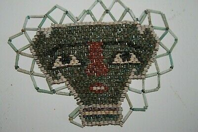 GOOD ANCIENT EGYPTIAN BEAD MASK LATE DYNASTIC 30th DYN 380 BC