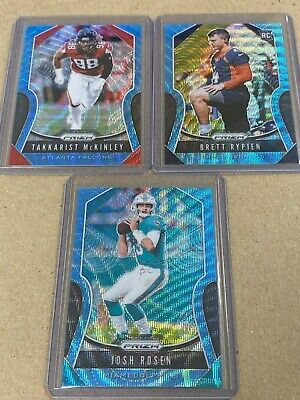 2019 Panini Prizm Football Cards - Blue Wave Prizm /199 Mixed Lot Set