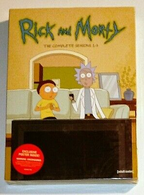 New! Rick And Morty: The Complete Series (To Date), 1-3. 6 Dvd Set. Ships Free
