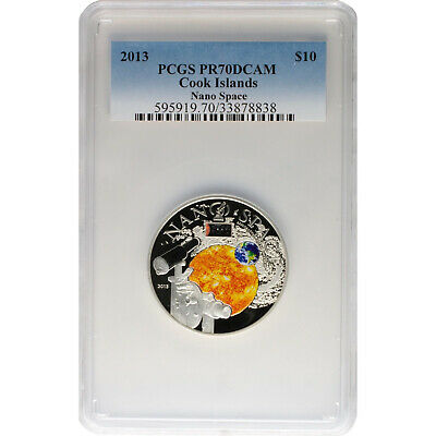 Cook Islands 2013 Nano Space Exploration of the Universe 50g Silver Proof Coin