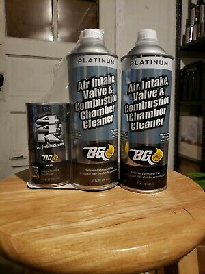 BG Platinum Air Intake and Combustion Chamber Cleaner with 44k and extra Can!!!!