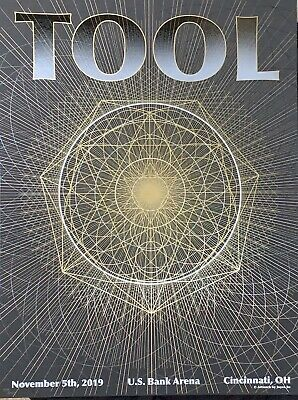 Tool Poster cincinnati 2019 tour limited edition two layers new
