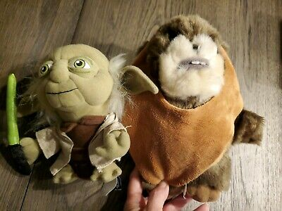 "Star Wars Authentic Original Disney Park Wicket W. Warrick EWOK 9"" Plush / yoda"
