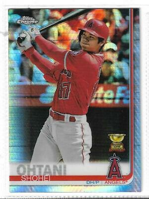 """Shohei Ohtani (Angels) - 2019 Topps Chrome """"Prism Refractor"""" Parallel Card #1"""