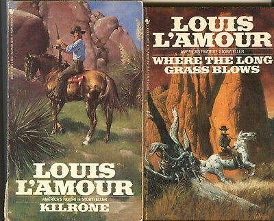 6 LOUIS LAMOUR western paper back books