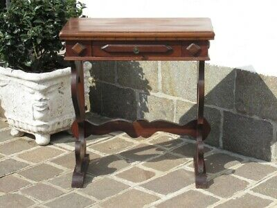 Vintage Furniture Console Entrance Small Table Wood Fratino Rustic Xx Century