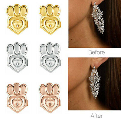 3 Pairs Earring Backs Lifters Earring Lifts Support Adjustable Hypoallergenic