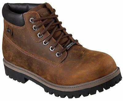Skechers Mens Verdict Suede Closed Toe Ankle Military, Dark Brown, Size 14.0 ysH