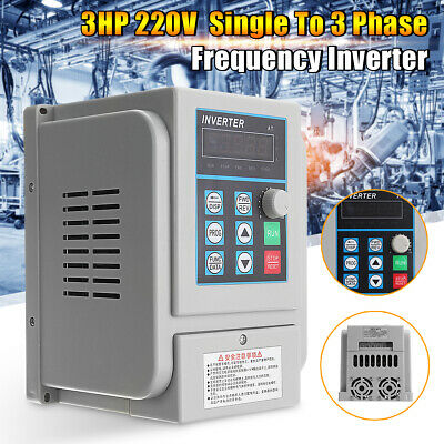 Upgrate 2.2KW 3HP Single To 3 Phase Variable Frequency Drive Inverter CNC VFD