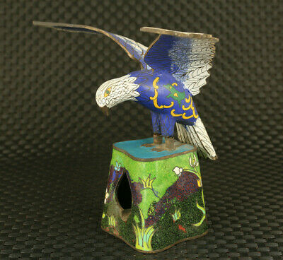 unique chinese cloisonne eagle statue noble table decoration collectable gift