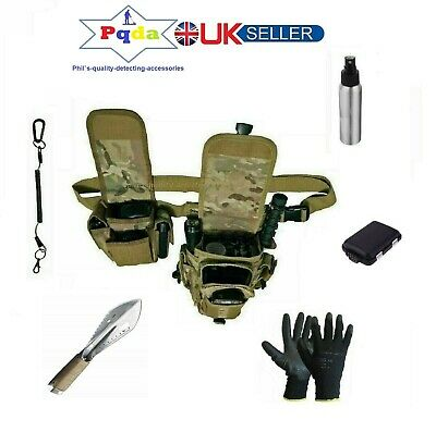 Metal Detecting Finds Pouch Bag+Lanyard+Pouch+Sprayer+Gloves+Digger+Find Box.NEW