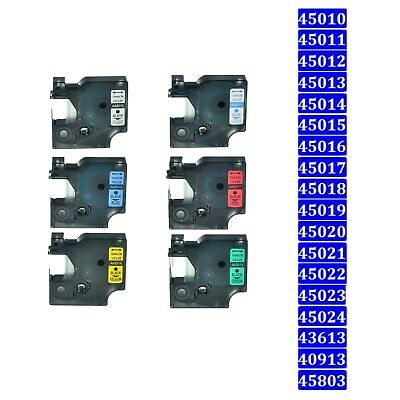 Label Tape 45013 40913 Cassette Compatible For  Dymo Labelmanager 6/9/12/19mm