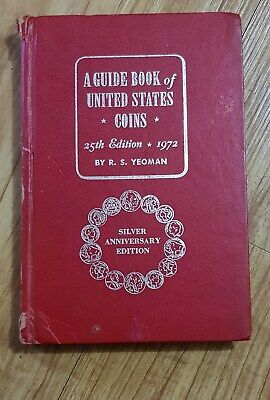 USA 1972 Redbook by YEOMAN  vintage SILVER 25th year edition