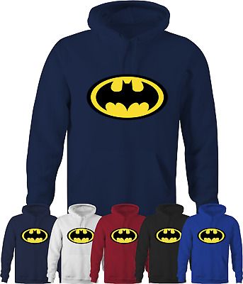 BATMAN Mens Adults Hoodie Marvel DC Comics Super Hero Sweatshirt Sizes S - 5XL