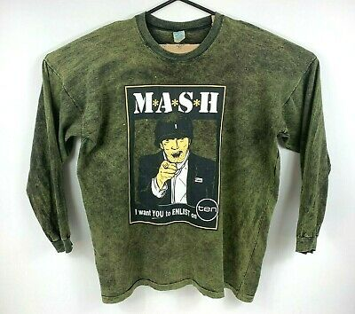 Vintage 1970's MASH M*A*S*H Crew Neck Jumper Size XL *RARE* Nice Man Tag