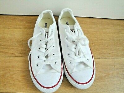 Converse All Star Trainers Shoes Size 2 Eu 34 White Girls Boys Unisex