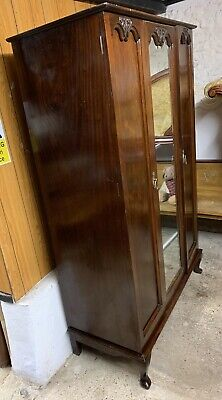 Early 20th Century Mahogany Double Wardrobe