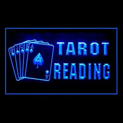180088 Tarot Reader Psychic Questions Skeptical Past Present LED Light Sign