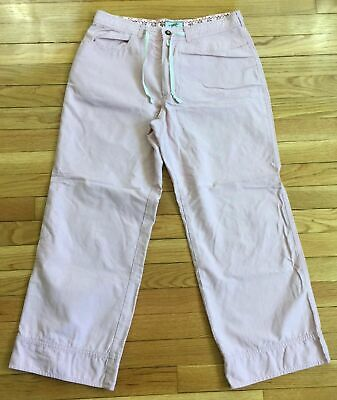 Horny Toad Flat Front Capri Cropped Pink Women's Pants Size 6