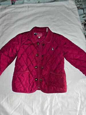 Joules Mabel Pink Quilted Jacket age 2-3 years