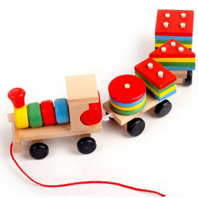 Baby development toys kids train truck wooden geometric   education toys ME J lc