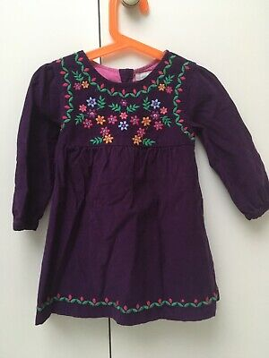Jojo Maman Bebe Purple Cord Dress 2-3