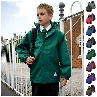 Childrens Waterproof School Coat Jacket Fleece Warm Boys Girls Kids Winter
