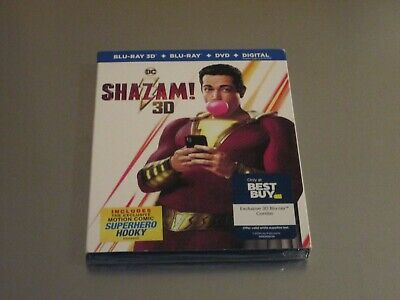 Shazam 3D Blu-ray + DVD + Digital with Slipcover