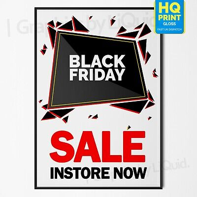 Black Friday Sale Now On 29th November Advertise Shop Poster #1 A4 A3 A2 A1