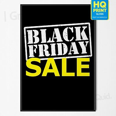 Black Friday Sale Now On 29th November Advertisement Store Poster #2 A4 A3 A2 A1