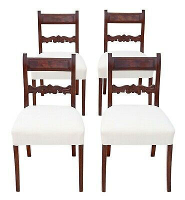 Antique fine quality set of 4 Regency C1825 mahogany dining chairs