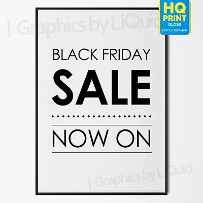Black Friday Advertisement Store Sale Now On 29th November Poster #5 A4 A3 A2 A1