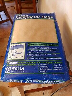 "Sears Heavy-duty Trash Compactor Bags12 Count  for 15"" trash compactor NOS"