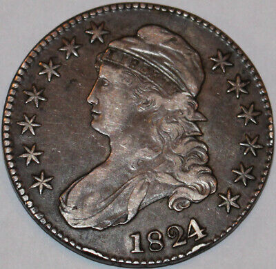 1824/1-P Capped Bust Half Dollar O-101 [SN02]