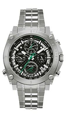 Bulova Men's Quartz Precisionist Chronograph Tachymeter 44mm Watch 96B241