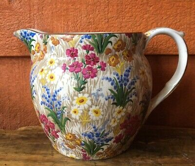 Royal Winton Grimwades Creamer Pitcher ~Marguerite Chintz