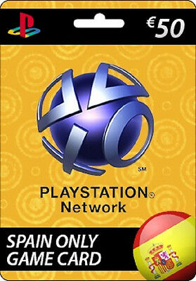 SONY PSN Playstation Network Card 50 EUR SPAIN ONLY PS3 PS4