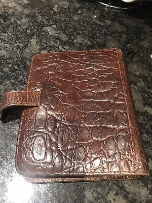 MULBERRY Vintage Brown Congo Leather Agenda Diary Organiser Filofax. Genuine
