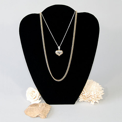 """Black velvet necklace jewelry pendant display form with easel back 8.5""""x10.75"""""""