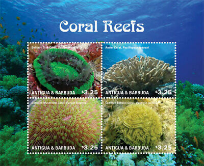Antigua - 2015 Coral Reef - Sheet of 4 - MNH