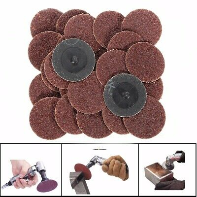 25pcs 2 Inch 24 Grit Roll Lock Sanding Disc with Pad Holder R-Type Abrasive Tool