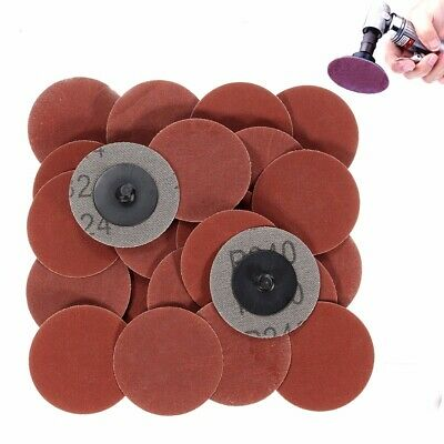 25pcs 2 Inch 240 Grit Roll Lock Sanding Discs with Holder R-Type Abrasive Tool